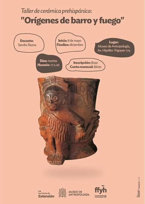 """Taller deCerámica prehispánica: """"Orígenes de barro y fuego"""""""