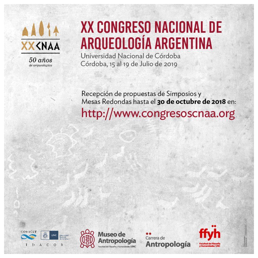 XX Congreso Nacional de Arqueología Argentina