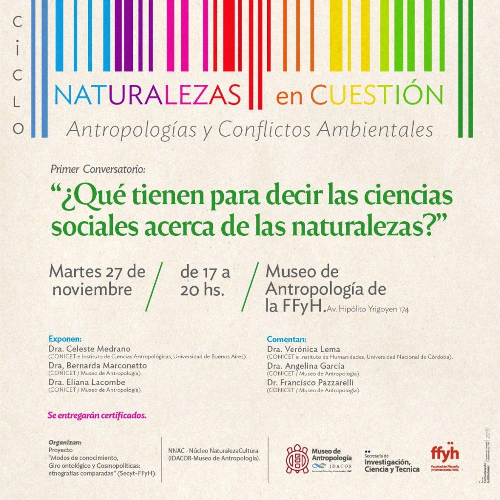 Ciclo Naturalezas en Cuestión:Antropologías y Conflictos Ambientales.