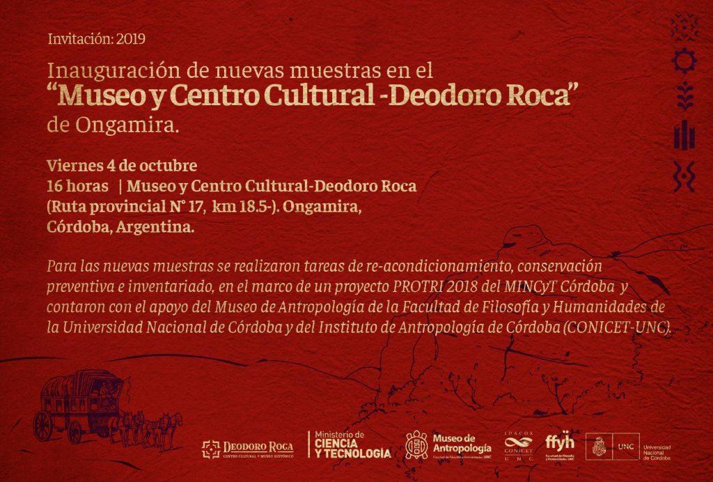 Inauguración de nuevas muestras en el Museo y Centro Cultural – Deodoro Roca de Ongamira