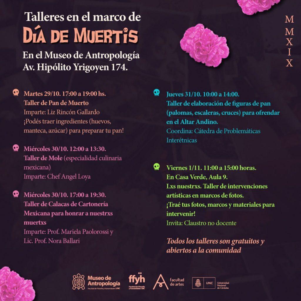 """InstalAcción """"Día de Muertis"""" 2019 y Talleres en el Museo de Antropología"""