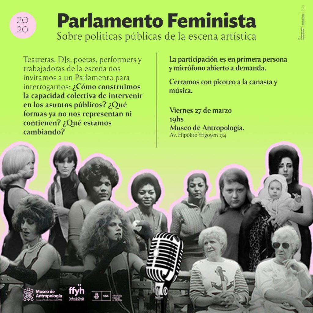 Parlamento Feminista. Sobre políticas públicas de la escena artística